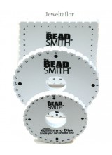 NEW! Beadsmith Trio Of Kumihimo Braiding Boards ~ Includes 1 Large Round Disk (15cm), 1 Round Mini Disk (10.7cm) & 1 Square Plate (15cm) ~ For Unique Braided Designs & Optional Instructions