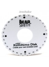 Beadsmith Small Mini  Kumihimo Round Disk 10.7cm (4.25 Inch) ~ For Unique Braided Designs & With Optional Instructions
