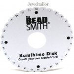 Beadsmith Large Kumihimo Round Disk 15cm (6 Inch) ~ For Unique Braided Designs & With Optional Instructions