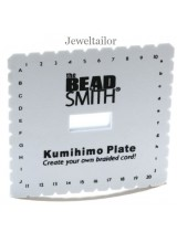 NEW! Beadsmith Large Kumihimo Square Plate/ Board 15cm (6 Inch)~ For Unique Braided Designs & With Optional Instructions