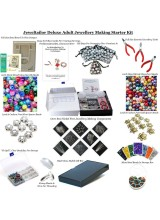 NEWLY UPDATED! Deluxe Adult Jewellery Making Starter Kit ~Make Your Own Earrings, Bracelets & Necklaces In Minutes! With Over 1,000 Beads & Findings, Beadsmith Bead Board,Pliers,Bead Box,Guide, Gift Bags, Bonus Items + FREE UK DELIVERY