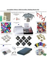 NEWLY UPDATED! Deluxe Adult Jewellery Making Starter Kit ~Make Your Own Earrings, Bracelets & Necklaces In Minutes! With Over 2,000 Beads & Findings, Beadsmith Bead Board,Pliers,Bead Box,Guide, Gift Bags, Bonus Items + FREE UK Delivery