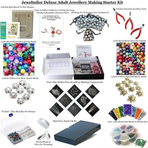 Deluxe Jewellery Making Starter Kit Make Your Own Earrings Bracelets