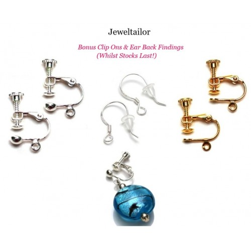 Beginner Earrings Jewellery Making Starter Kit Make 10 Pairs With 200 Components 3 Mini Pliers Free Bonus Clip Ons Earring Backs Instructions