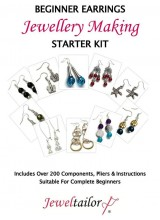 NEW! Beginner Earrings Jewellery Making Starter Kit ~ Make 10 Pairs With 200+ Components, 3 Mini Pliers, Full Instructions, Free Bonus Clip Ons, Earring Backs + Luxury Gift Bag  ~Ideal For Parties, Gifts Or A Personal Treat