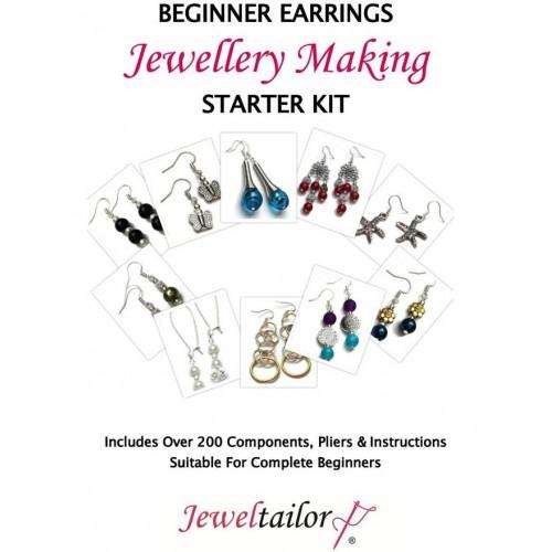 New Beginner Earrings Jewellery Making Starter Kit Make 10 Pairs