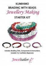 NEW! Complete Kumihimo Braiding With Beads Starter Kit ~ Make Up To 10 Stylish Bracelets ~ With Beadsmith Braiding Disk,Glass Beads, Wire, Guide, Optional Pliers + Free Gift Bag ~ A Perfect Creative Gift Or Treat
