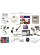 NEW! Deluxe Adult Braiding, Knotting & Kumihimo Jewellery Making Starter Kit ~ With 2 Kumihimo Boards,Silky Cord, Cutters, Bobbins, Seed Beads, Glue, End Beads,300+ Findings, 20 Page Guide + FREE Gift Box