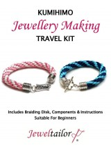 NEW! Kumihimo Braiding Jewellery Making Travel Kit ~ A 48 Piece Kit That's Perfect For Crafting On The Go With Braiding Disk, Cord, Carry Handle Box & Bonus Craft Scissors (Whilst Stocks Last)