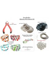 Complete Memory Wire Bracelet Jewellery Making Starter Kit ~ Makes Up to 20 Bracelets ~With Premium Wire Cutters, 200+ Beads, Instructions + Free Luxury Gift Bag ~A Perfect Gift Or Treat