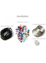Bracelet Memory Wire 4 Piece Starter Kit  + 25 Grams FREE Glass Beads ~ Smart Value Collection