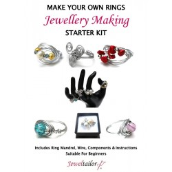 Complete Ring Making Starter Kit ~ Makes Over 20 Stylish Rings In Gold Or Silver + FREE Ring Sizer ~ A Perfect Gift Or Treat For A Creative Person