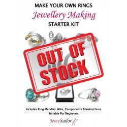 Complete Ring Making Starter Kit ~ Makes Over 50 Stylish Rings In Gold Or Silver + FREE Ring Sizer & Free Luxury Gift Bag ~ A Perfect Gift Or Treat For A Creative Person