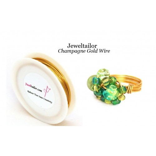 5-30 Metres Champagne Gold Plated 0.8mm (20 Gauge) Aluminium Stay ...