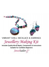 Vibrant Shell Necklace & Earrings Jewellery Making Kit + FREE Luxury Gift Bag & Optional Pliers ~ A Perfect Gift Or Treat For A Creative Person