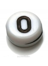 NEW! 5 Letter O White Round Alphabet Beads 7mm ~ Ideal For Name Bracelets, Card Making & Other Craft Activities