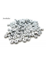 150 Silver Acrylic Mixed Alphabet Letter Beads 7mm ~ Ideal For Name Bracelets, Card Making & Other Craft Activities