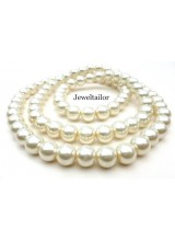 NEW! 50 Classic Cream Round Glass Pearl Beads 8mm With High Sheen Finish ~  Jewellery Making Essentials