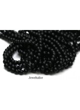 NEW! 50 Jet Black Round Glass Pearl Beads 8mm With High Sheen Finish ~  Jewellery Making Essentials