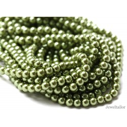 50 Apple Green Round Glass Pearl Beads 8mm With High Sheen Finish ~  Jewellery Making Essentials