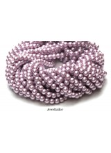 NEW! 50 Flamingo Pink Round Glass Pearl Beads 8mm With High Sheen Finish ~  Jewellery Making Essentials