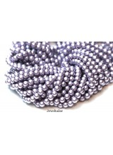 NEW! 50 Lavender Lilac Round Glass Pearl Beads 8mm With High Sheen Finish ~  Jewellery Making Essentials