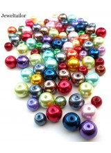 100+ Vibrant Mixed Round Glass Pearls 6-8mm With High Sheen Finish ~  Jewellery Making Essentials