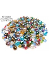 100-300 Sparkly Rainbow Deluxe Mixed Faceted Abacus Glass Beads ~ Ideal For Creative Jewellery Making