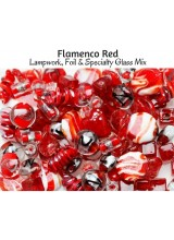 NEW! Flamenco Red Just Lampwork, Foil & Fancy Glass Bead Mix ~ Ideal For Unique Creations