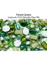 NEW! Forest Green Just Lampwork, Foil & Fancy Glass Bead Mix ~ Ideal For Unique Creations