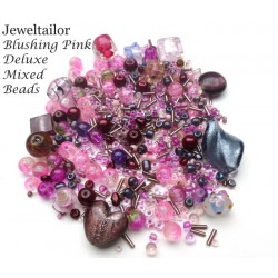Blushing Pink Deluxe Glass Bead Mix + FREE Bonus Metal Beads ~ 400+ Beads Including Pearls,Rare Lampwork, Seed + More