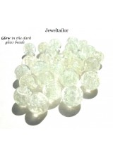 20-100 Glow In The Dark White Lampwork Glass Beads 8mm ~ Stylish Jewellery Making