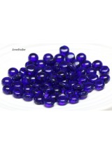 NEW! 25 Preciosa Cobalt Blue 2 Hole Czech Candy Beads 8mm ~ For Bead Stitching, Multi Strand & Embroidery Designs