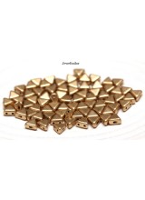 NEW! 50 Crystal Bronze Pale Gold Kheops Par Puca 2 Hole Beads 6mm ~ For Bead Stitching, Multi Strand & Embroidery Designs