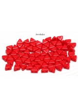 NEW! 50 Opaque Coral Red Kheops Par Puca 2 Hole Beads 6mm ~ For Bead Stitching, Multi Strand & Embroidery Designs