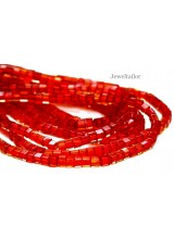 BUY ONE GET ONE FREE! 40 High Sheen Square Red Glass Beads 6mm ~ For Stylish Jewellery Making