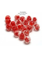 20-100 Glow In The Dark Red Lampwork Round Glass Beads 8mm ~ Stylish Jewellery Making