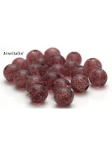20-100 Glow In The Mulberry Red Lampwork Round Glass Beads 10mm ~ Stylish Jewellery Making