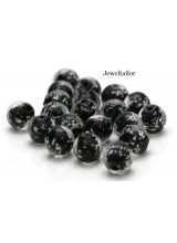 20-100 Glow In The Dark Black Lampwork Round Glass Beads 8mm ~ Stylish Jewellery Making