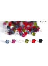 6mm ~ Pack Of 20-60 Hand-Mixed Sparkling Swarovski Crystal (5328) Xilion Bicone Beads ~ May Include Popular Colours Crystal AB, Peridot, Jet, Rose etc
