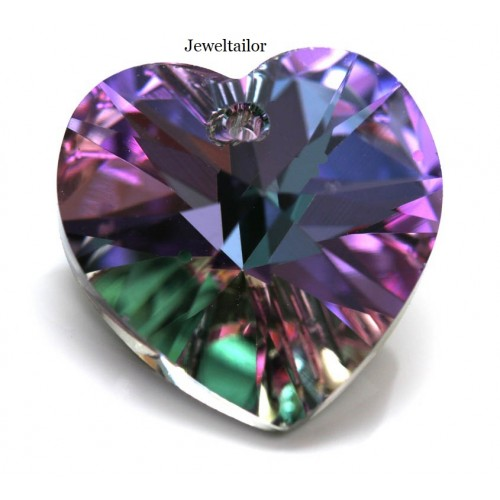 1 swarovski crystal 6228 vitrail light crystal heart pendant glass 1 swarovski crystal 6228 vitrail light crystal heart pendant glass bead 18mm sparkly jewellery making aloadofball