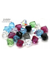 8mm ~ Pack Of 10-50 Hand-Mixed Sparkling Swarovski Crystal (5328) Xilion Bicone Beads ~May Include Popular Colours Crystal AB, Jet, Aquamarine etc