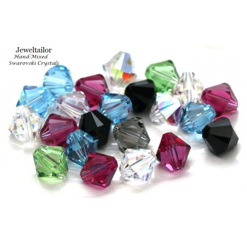 7d2d471f0 10 Hand-Mixed Sparkling Swarovski Crystal (5328) Xilion Bicone Beads 8mm  ~May Include Popular Colours Crystal AB, Jet, Aquamarine etc