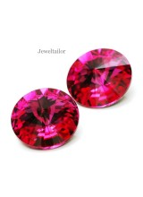 NEW! 2 Swarovski Crystal (1122) Fuchsia Foiled Rivoli Stones 12mm ~ Ideal For Frames & Embellishments