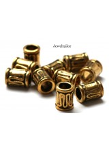 10-40 Gold Plated Nickel Free Large Hole Tube Beads 8mm With 4mm Hole ~ Limited Editions Collection