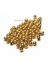 NEW! 200 Gold Plated Round Spacer Beads 4mm ~ Jewellery Making Essentials