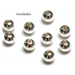 200 Silver Plated Round Spacer Beads 4mm ~ Jewellery Making Essentials
