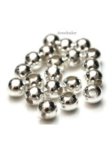 NEW! 20-100 Large Hole Silver Plated Round Spacer Beads 8mm  ~ Stylish Jewellery Making Beads