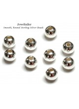 10-50 Sterling Silver .925 Round Spacer Beads 4mm With 1.5mm Bead Holes~ Fine Jewellery Making