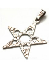 1 Sterling Silver .925 Large Embossed Star Pendant 34mm ~ Limited Editions Collection